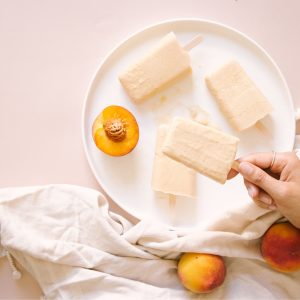 Peach Kefir Popsicles